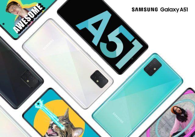 Samsung Galaxy A51 Offiziell Vorgestellt Samsung Galaxis Handyvertrag