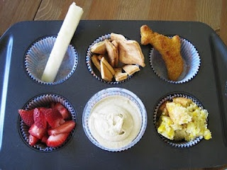 Muffin tin lunches - get the kids to eat in a fun way!