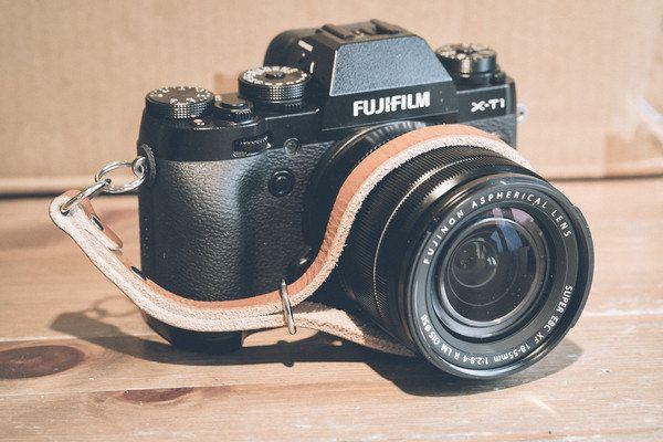 Hand made Leather Camera Wrist Strap fits - Fuji X-Pro 1   Fuji X100s   Fuji X-T1   Olympus OMD   Leica M   Sony A7   Nikon DSLR (13.99 GBP) by 595strapco
