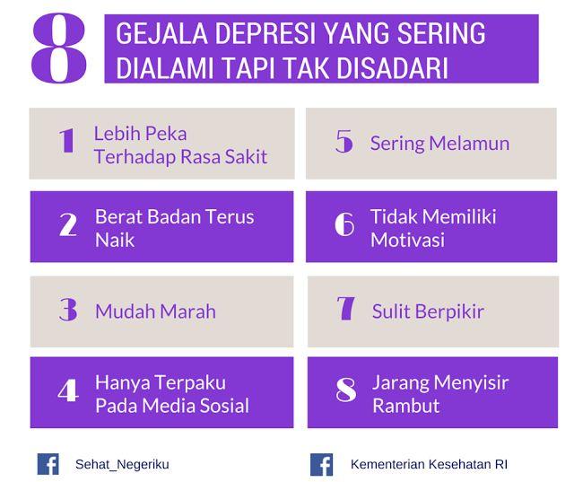 Gejala Depresi Yang Tak Disadari ~ Infografis Kesehatan