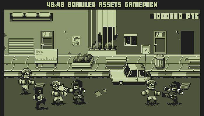 48x48 Gameboy brawler game pack