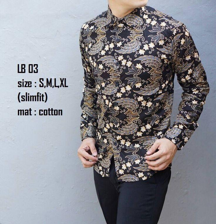 Jual Baju Batik Pria Slim Fit Modern Lengan Panjang Lb03 Limited Rp 150.000