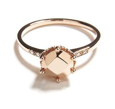 champagne diamond ring: Wedding Ring, Rosegold, Hazeline Solitaire, Engagementrings, Annasheffield, Anna Sheffield, Jewelry, Engagement Rings, Rose Gold