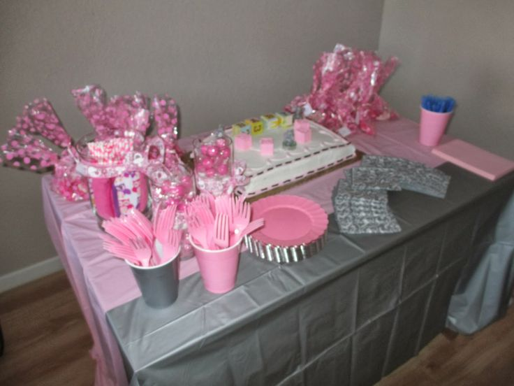 pink and grey elephant baby shower theme baby shower pinterest
