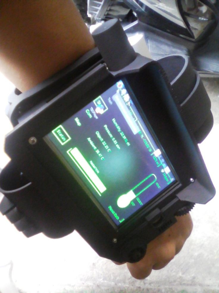 A pipboy with Raspberry Pi on board.