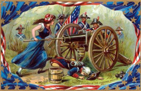On June 28th, 1778, Molly Pitcher became the heroine of the Battle of Monmouth when she took over her husband's cannon after he was injured! #heroine