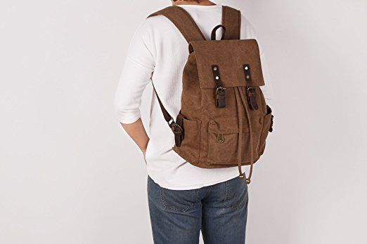 Vintage Canvas Backpack, School Backpacks, College School Laptop Weekend Bag Casual Daypacks Backpack for Boys, Girls, Student: Amazon.co.uk: http://amzn.to/2iUopIA