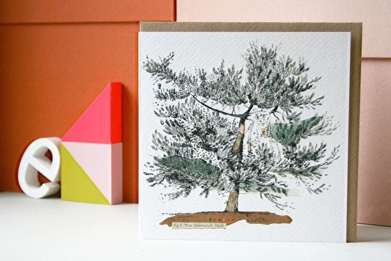 Tree in Greenwich Park Card by lizkingillustration on Etsy