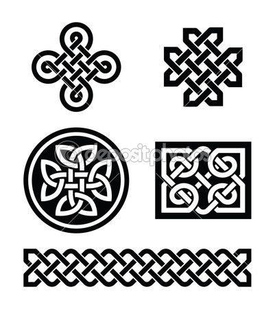Patrones de nudos celtas - vector — Ilustración de stock #19126469