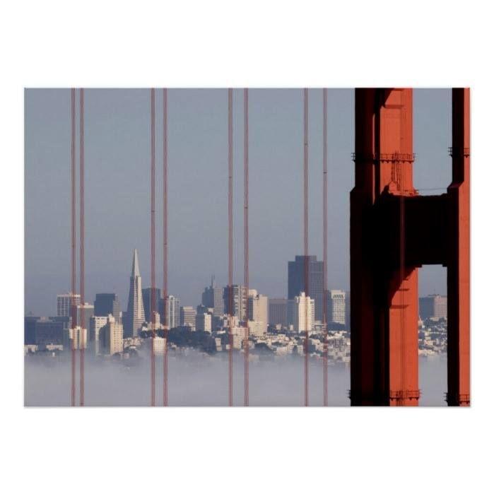 Customizable #Architecture #Building#Exterior #City #City#Life #Cityscape #Clear#Sky #Consumerproduct #Day #Golden#Gate#Bridge #Horizontal #International#Landmark #No#People #Outdoors #Photography #San#Francisco#California #Skyline #Skyscraper #Tower #Travel#Destinations San Francisco Skyline from Golden Gate Bridge. Poster available WorldWide on http://bit.ly/2ib8vGJ