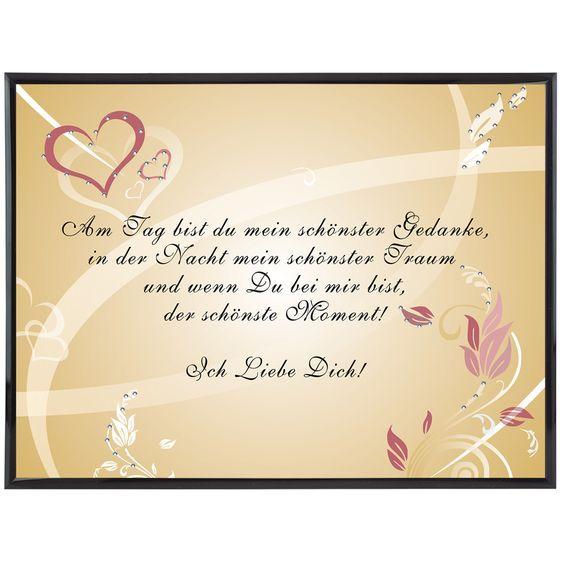 Romantische Liebeserklärung Mit Personalisierung Und Swarovski Kristallen  Individuelle Liebeserklärung: Ihr Liebesspruch Auf Einem Bild