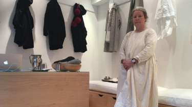 Carin Mansfield in her shop In-ku. Slow fashion. England.