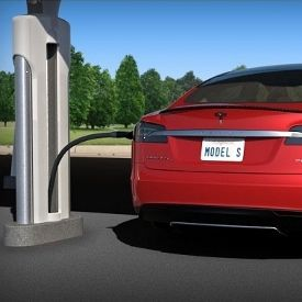 "Tesla Model S Supercharger-- charging stations for electric cars. designed to generate more energy from the sun than Tesla vehicles consume, allowing a net positive transfer of solar power back to the electricity grid. ""drive almost anywhere for free on pure sunlight"""