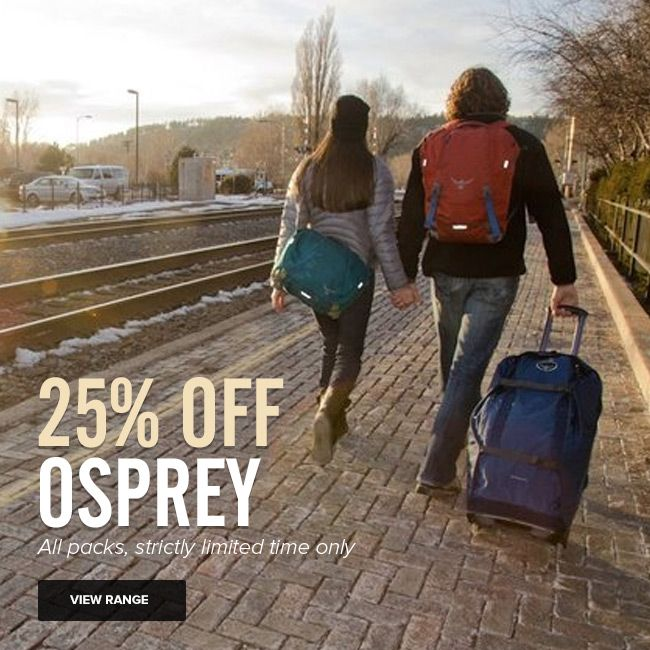 25% off all Osprey Packs - strictly limited time only http://www.mainpeak.com.au/brands/osprey/ FINISHED!