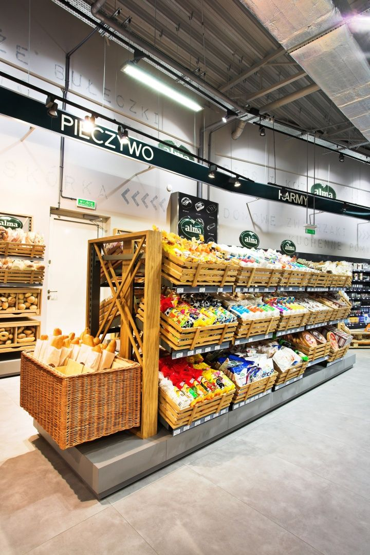 alma grocery by moco locco krakow poland store design