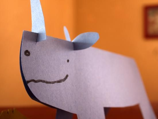 how to make a rhino mask out of paper