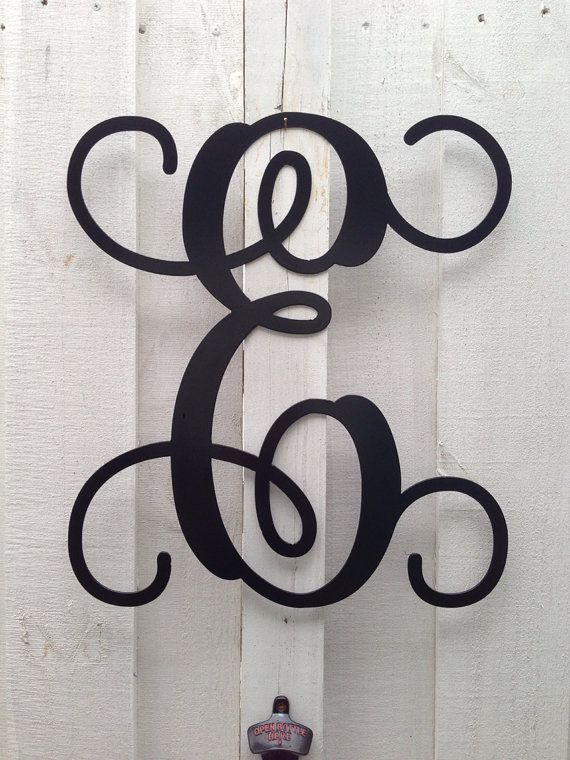 1000 images about monogram letters on pinterest for Metal letters for front door