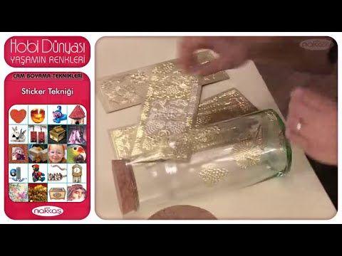 Cam Boyama Teknikleri - Sticker Tekniği - YouTube