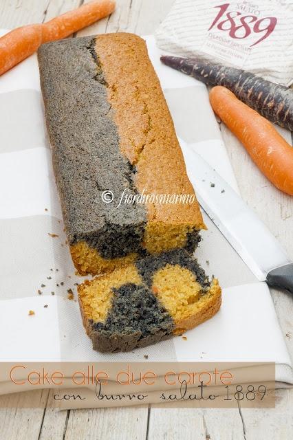 Fiordirosmarino: Cake alle due carote con burro salato 1889 delle Fattorie Fiandino
