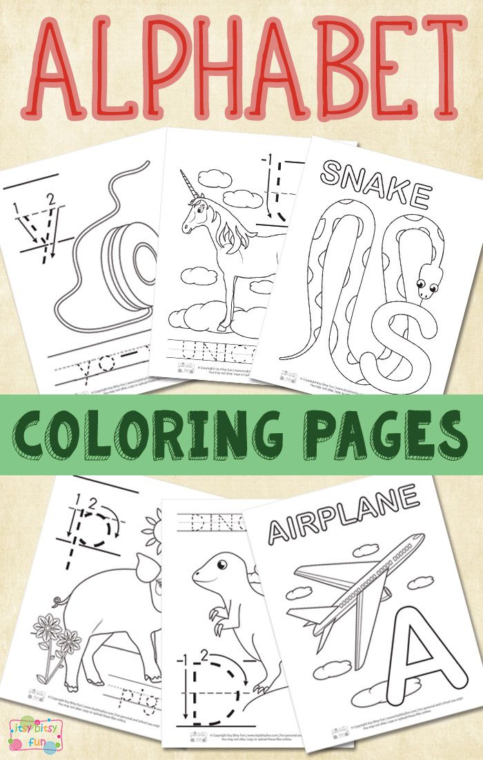 whole alphabet coloring pages - photo#43