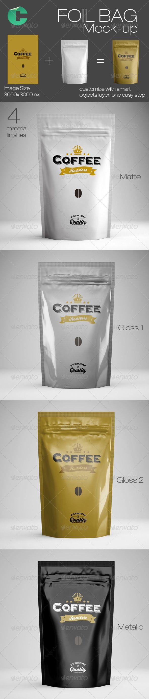 Foil Bag Mock-up - Food and Drink Packaging