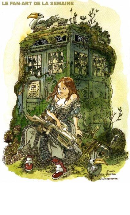 French Boulet's Doctor Who fan-art