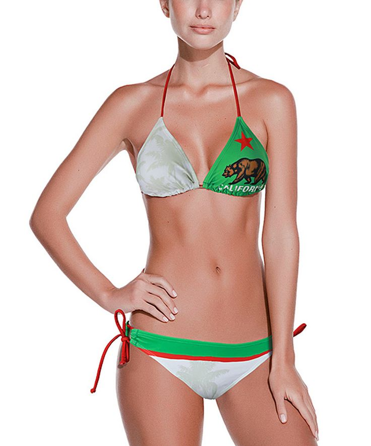 Look at this California Flag Bikini - Women on #zulily today!