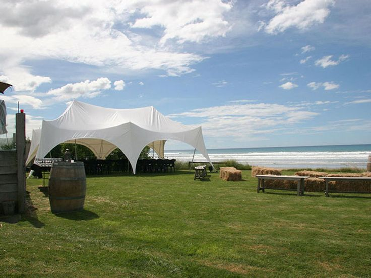 Marquees Over Hawkes Bay beach