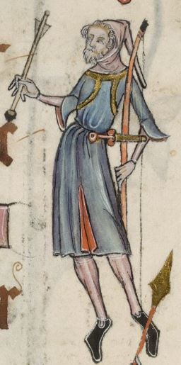 Detail from The Luttrell Psalter, British Library Add MS 42130 (medieval manuscript,1325-1340), f45r