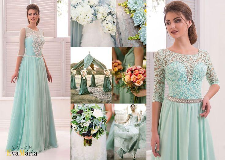 Zelené družičkovské šaty . zelená svadba - zelená svadobná výzdoba