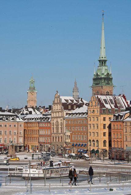 A wintery Stockholm by Sven Rudolf Jan, via Flickr