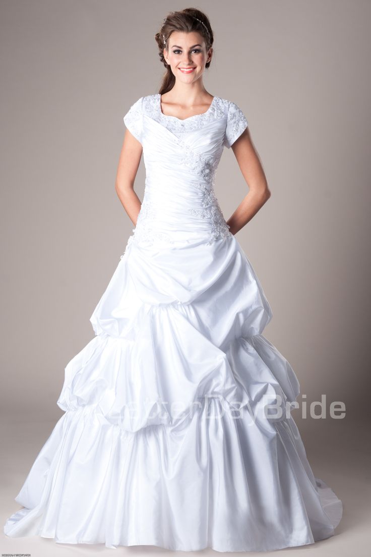 1000 images about wedding dresses on pinterest modest for Mormon modest wedding dresses