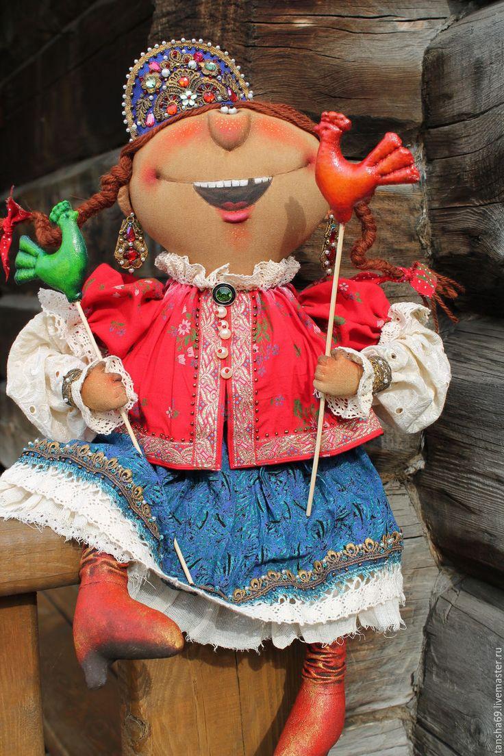 Купить Царевна-Смеяна! - комбинированный, текстильная кукла, ароматизированная кукла, интерьерная кукла, царевна, ткань