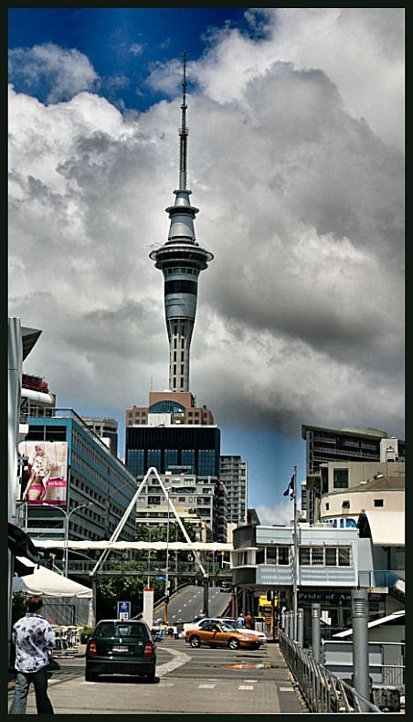 The Sky Tower of Auckland, New Zealand