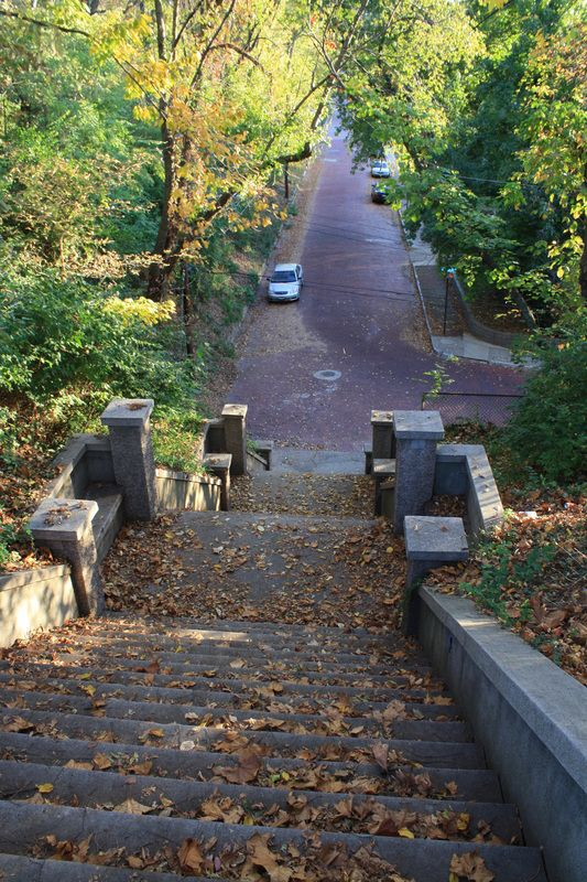 Stairs at Riverview Park, Alton, Illinois.