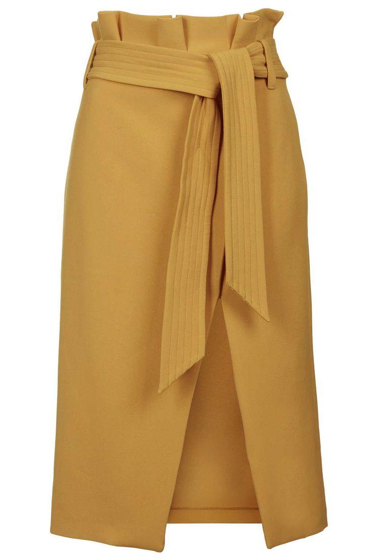 Paperbag Midi Skirt