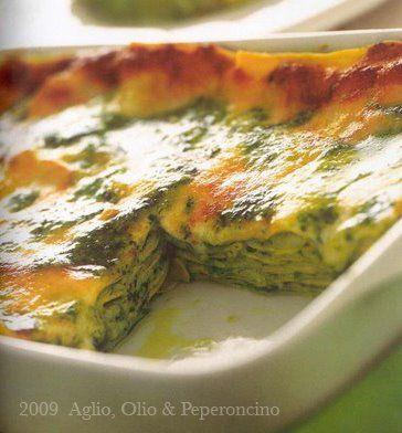 Lasagne al Pesto. Heaven.