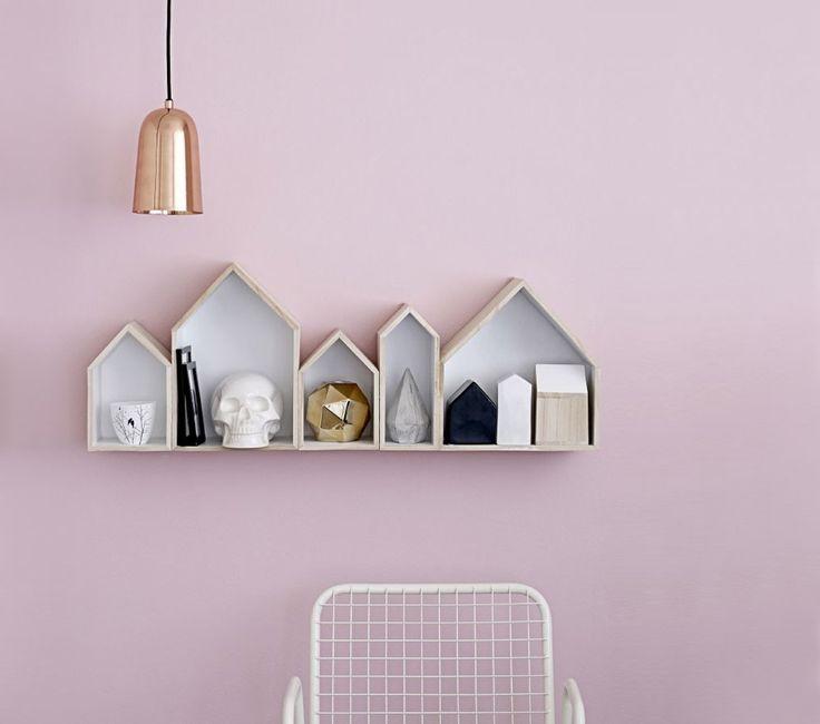 #Kleurtrend van 2015 / 2016: een zacht #roze #muur met minimalistisch #accessoires, uit de #Scandinavische #trend.