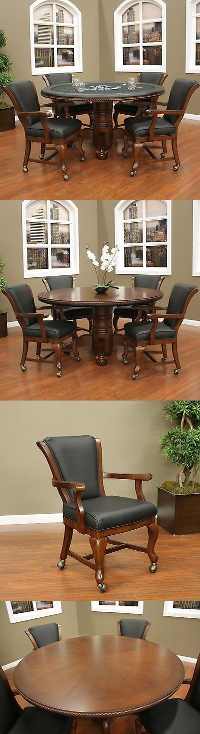 Card Tables and Tabletops 166572: American Heritage Hustler Poker Table Set -> BUY IT NOW ONLY: $3495 on eBay!