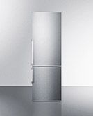 """Discontinued as of 9/16 - Summit FFBF245SSX 24"""" Refrigerator/Freezer - Frost Free, Stainless, 115v"""