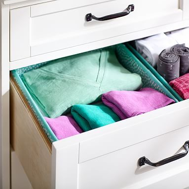 Drawer Organizers - Deep T-Shirt Storage #pbteen  Navy for him of course