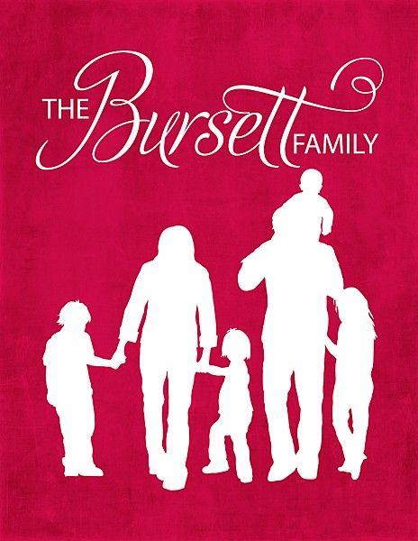 A family silhouette...cute idea.