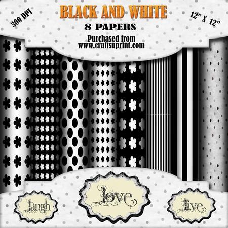 Simply Black and White  on Craftsuprint - Add To Basket!