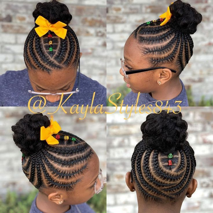 Children S Braids And Buns Booking Link In Bio Childrenhairstyles Braidart Childrensbraids Br Hair Styles Little Girl Braids Little Girl Braid Hairstyles
