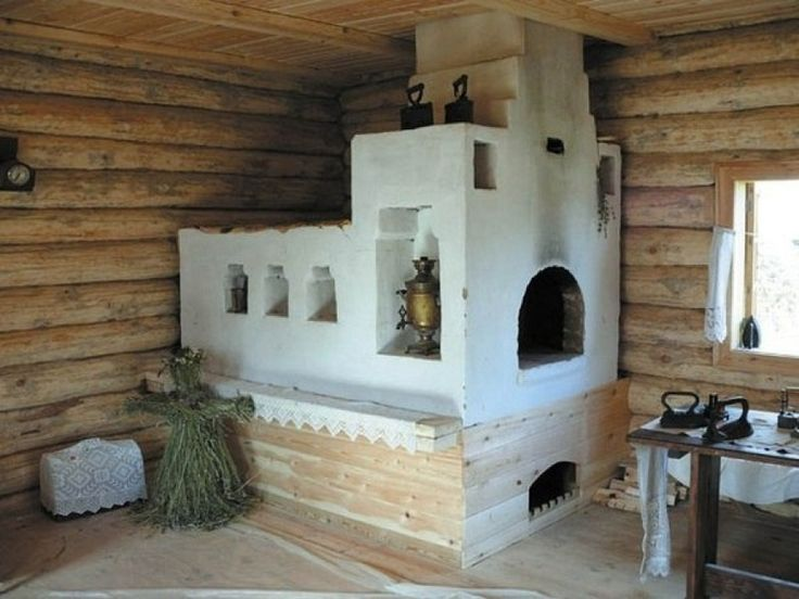 Russian stove at the cottage