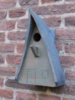 "Vogelhuisje nr.463. ""puntdak"" €.80.- (verkocht)"
