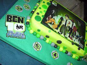 Torta de cumpleaños de Ben 10 bizcocho de vainilla con relleno de arequipe.