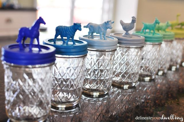 Play-Doh Excitement - Jars to store your Play Doh and decorate a room! Delineate Your Dwelling: