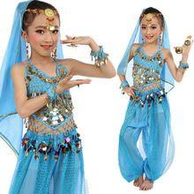 2016 New arrivals mulheres do desgaste da dança crianças traje de dança do ventre conjunto Indiano barato na venda