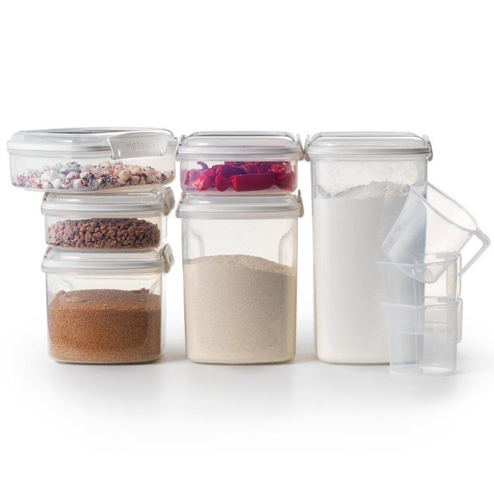 Get Organized Stackable Storage Containers Will Easily Contain Your Dry Pantry Goods Come With 3 Different 1 Cup Pantry Storage Flour Container Storage Sets